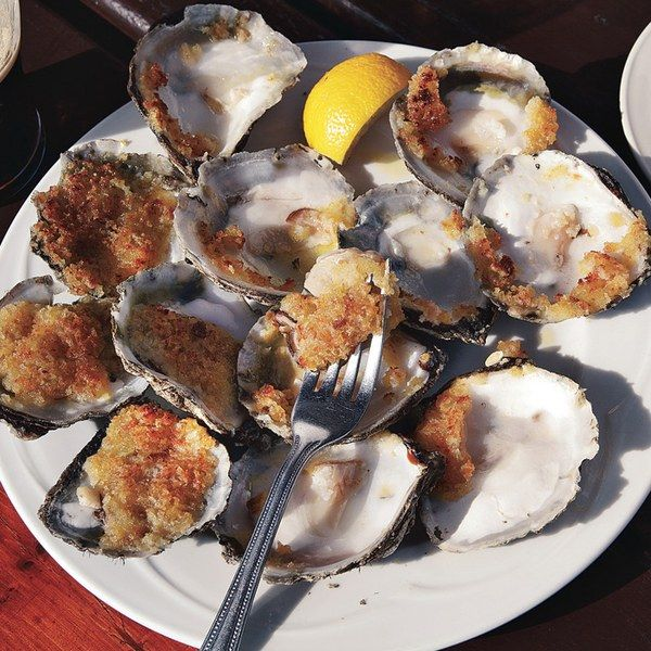 At Moran's Oyster Cottage, diners         enjoy this dish alongside homemade bread.