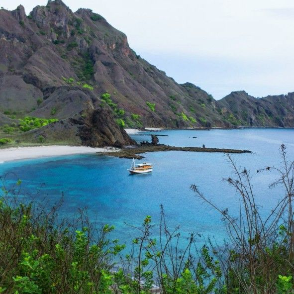 Padar Island in Flores, Indonesia