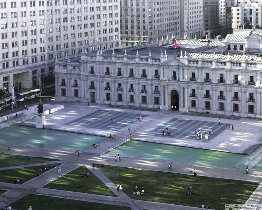 Vista aérea de La Moneda
