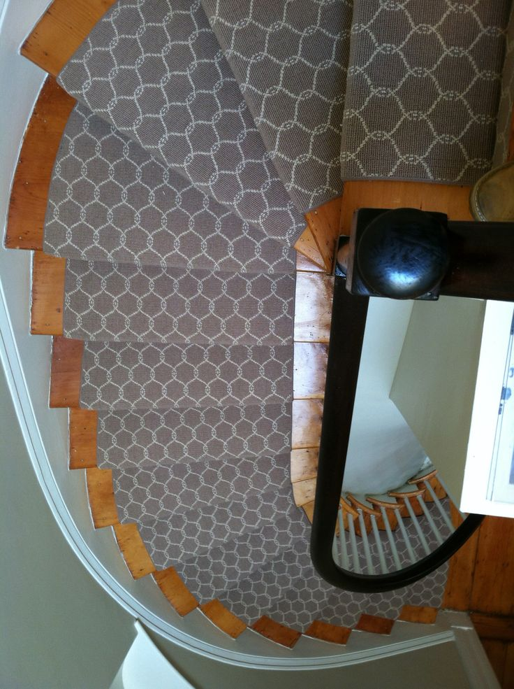 This is a custom turned stair runner installed in Newton ...