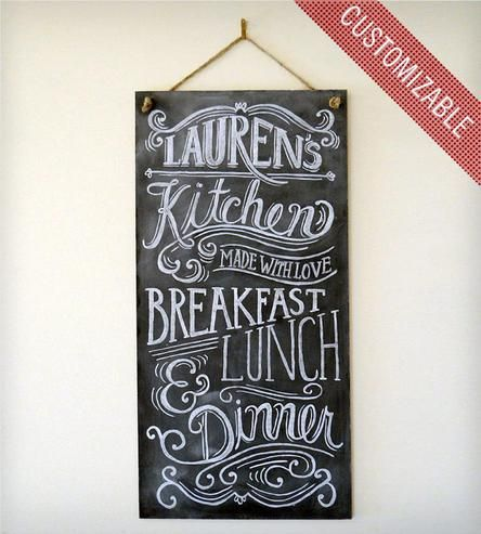 Custom Kitchen Chalkboard Sign
