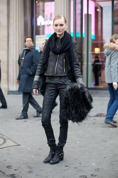 #black . Street Style from Paris Haute Couture Spring Summer 2013