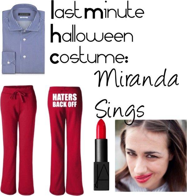 """""""last minute halloween costume: Miranda Sings"""" by anja-hribernik ❤ liked on Polyvore"""