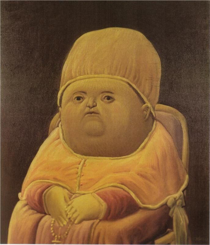 Fernando Botero, Pope Leo X (after Raphael), 1964