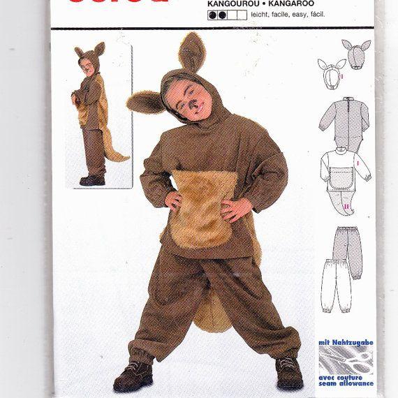 Burda 2762 Sweet Kids kangaroo Costume by RosesPatternTreasury