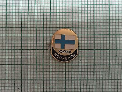 Ice hockey world #championships #moscow 1986 team finland pin #badge,  View more on the LINK: 	http://www.zeppy.io/product/gb/2/141834057964/