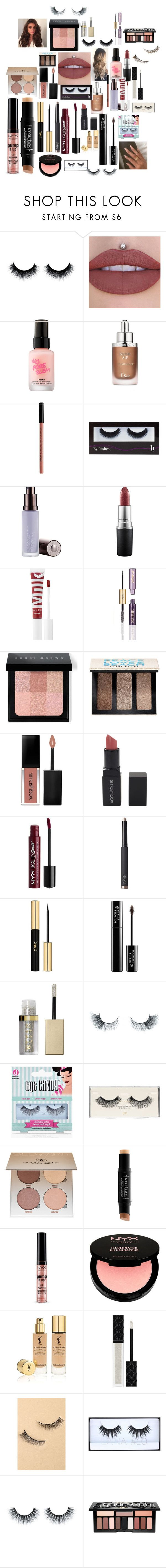 """""""Untitled #2058"""" by bucketlistdiary on Polyvore featuring beauty, Touch in Sol, Christian Dior, NYX, BBrowBar, Becca, MAC Cosmetics, MILK MAKEUP, Bobbi Brown Cosmetics and Smashbox"""