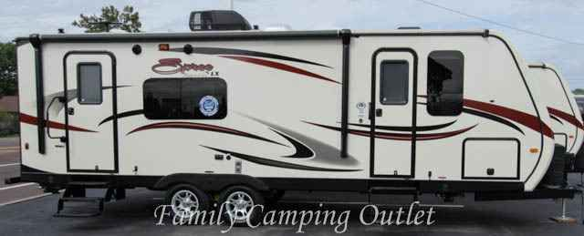 """2016 New Kz SPREE 263RKS Travel Trailer in Pennsylvania PA.Recreational Vehicle, rv, Inventory Reduction Sale! Was $35,028. Now Only $29,774! Don't Miss This Opportunity! The Spree 263RKS luxury travel trailer by KZ sleeps up to 4 and has one slide. Inside there are improvements and upgrades everywhere, including wood, wallboard, linoleum, fabrics, crown molding, and 100% LED lighting. On the outside there is a painted cap, great graphics, a 30"""" entry door, a one-piece seamless vinyl roof…"""