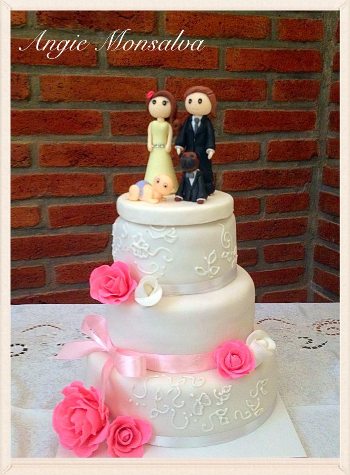 Torta boda más novios de porcelana