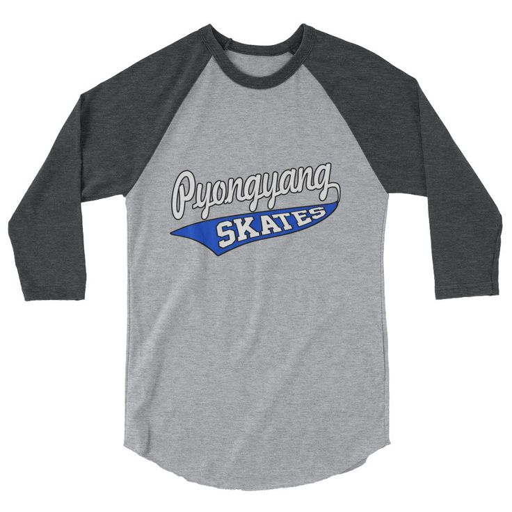 Pyongyang Skates 3/4 Raglan Sleeve T-shirt XS-2XL Poly/Cotton