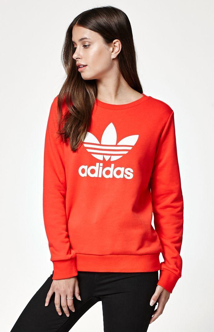 adidas Trefoil Crew Neck Sweatshirt at PacSun.com  ee4007f498