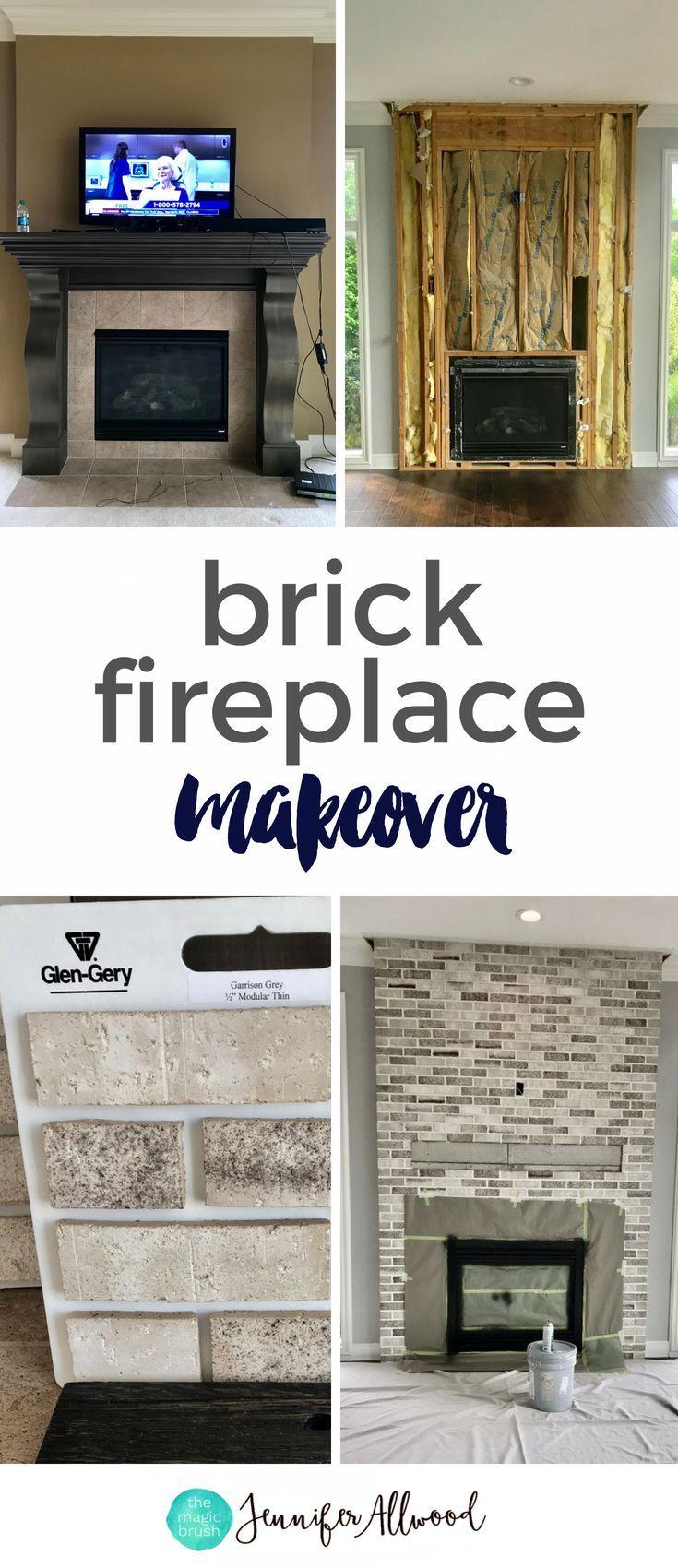 A Light Brick Fireplace Makeover By Brick Fireplace Makeover