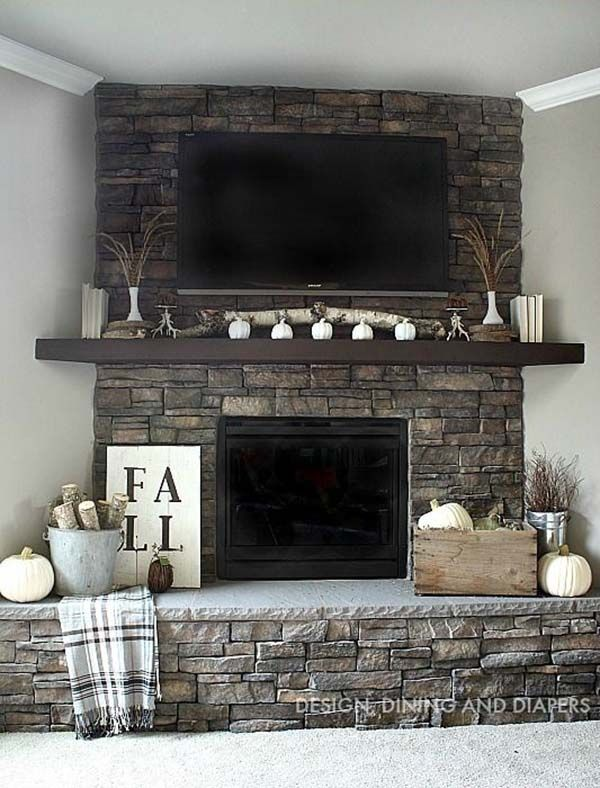 50 Sensational stone fireplaces to warm your senses. Fireplace Hearth DecorCorner  ...