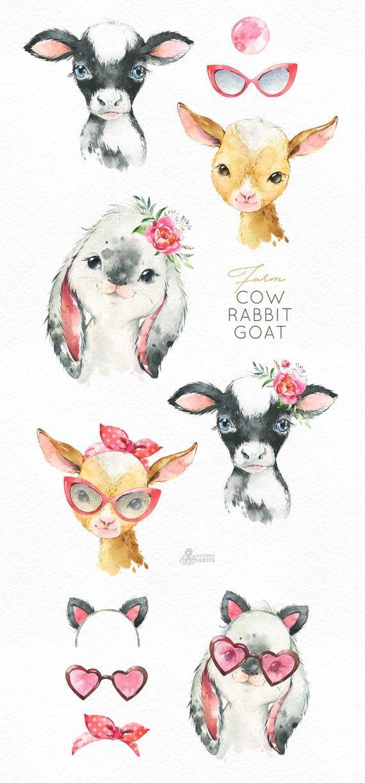 25+ Baby Farm Animals Clipart Goat