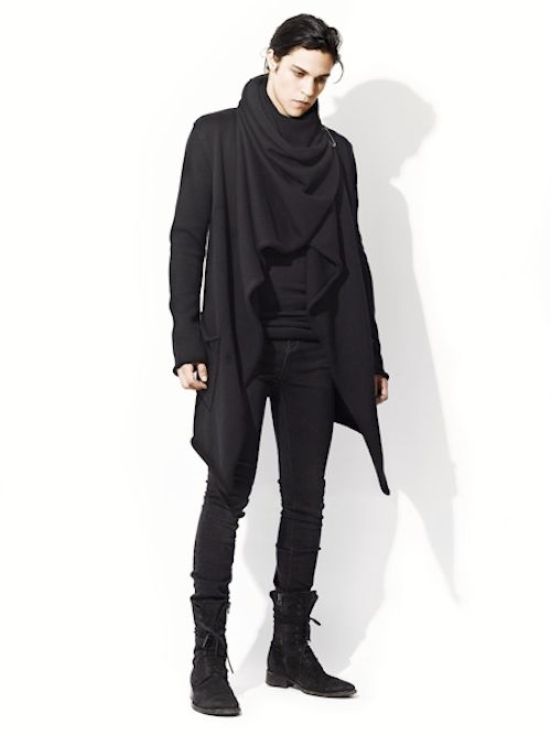 black - shawl - coat