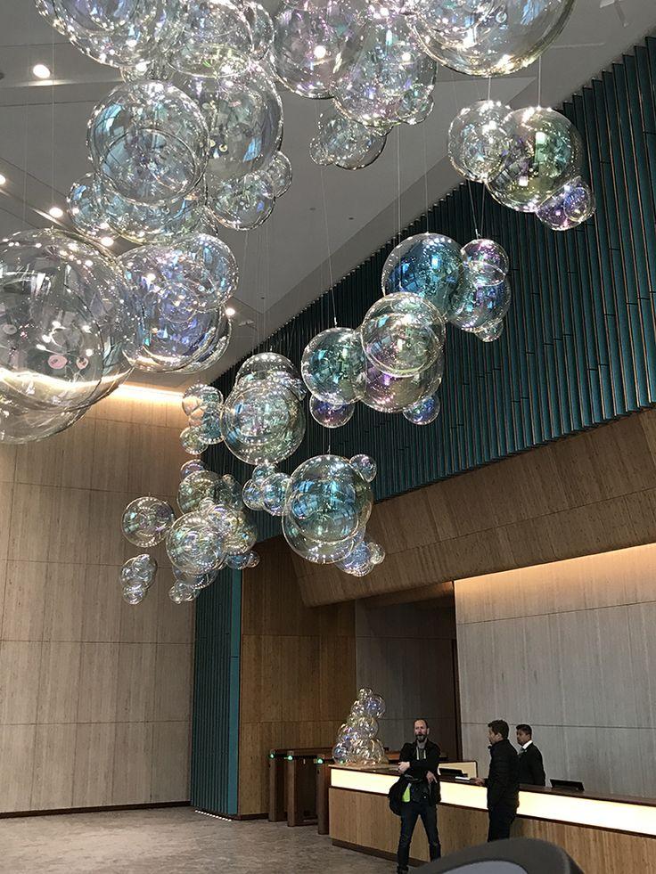 Glass Iridescent Bubbles. Public Art. London. Nova North. VERHOEVEN  VERHOEVEN Brothers