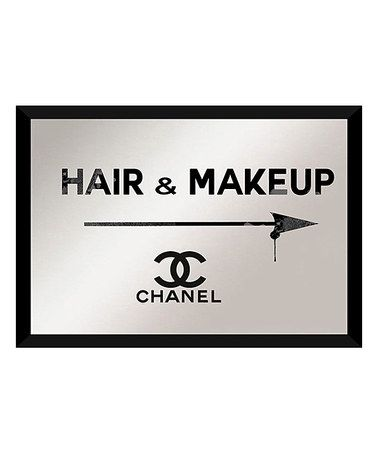 "Another great find on #zulily! ""Hair & Makeup Chanel"" Framed Mirror Wall Art #zulilyfinds"