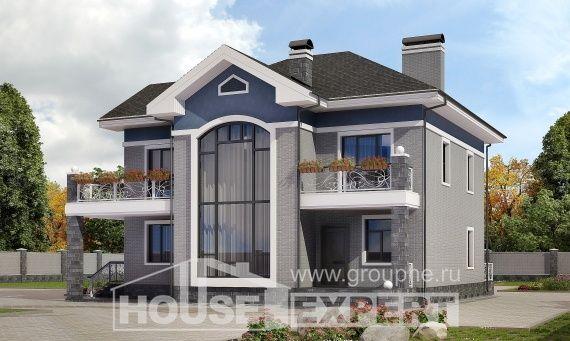 200-006-L Projekt domu dwukondygnacyjnego, klasyczny dom podmiejski z cegieł, Gdańsk