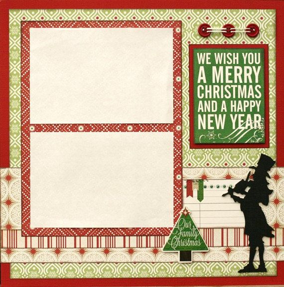 Premade Scrapbook Single Page 12 x 12 Christmas by designstudioL
