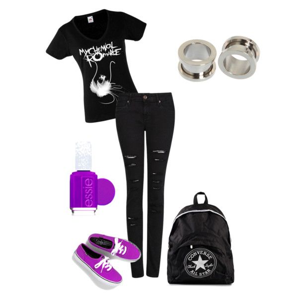 """MCR Band Merch T-shirt Casual Outfit"" by ciarraperry on Polyvore"