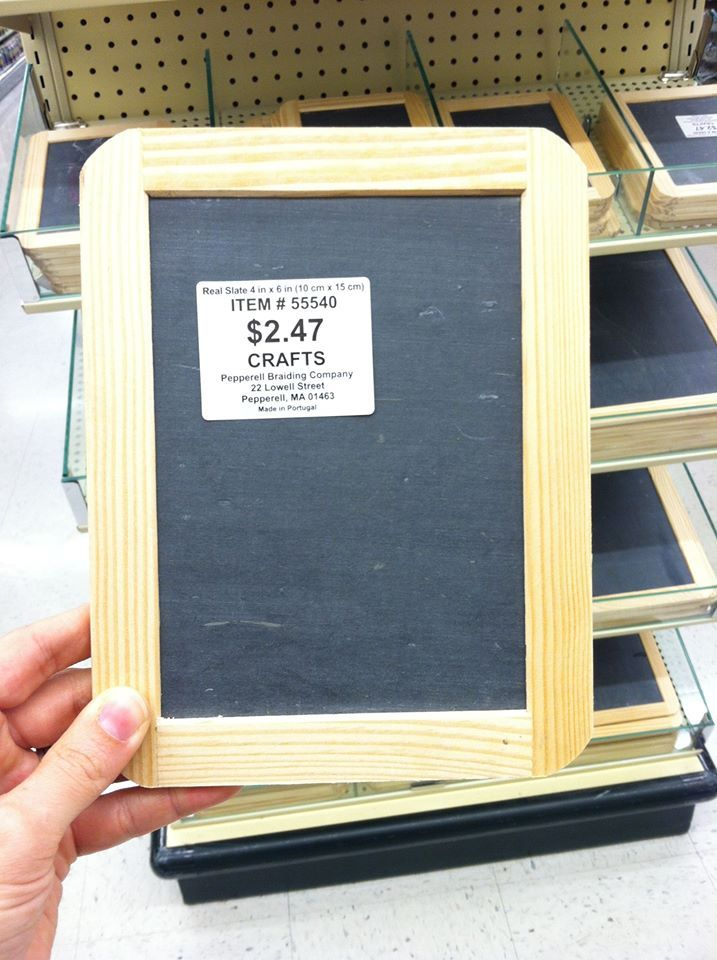 Found this at Hobby Lobby. Make your own (inexpensive) Handwriting Without Tears wet/dry/try double-sided slate by drawing a happy face at the top left corner. Exact same size as the real ones!