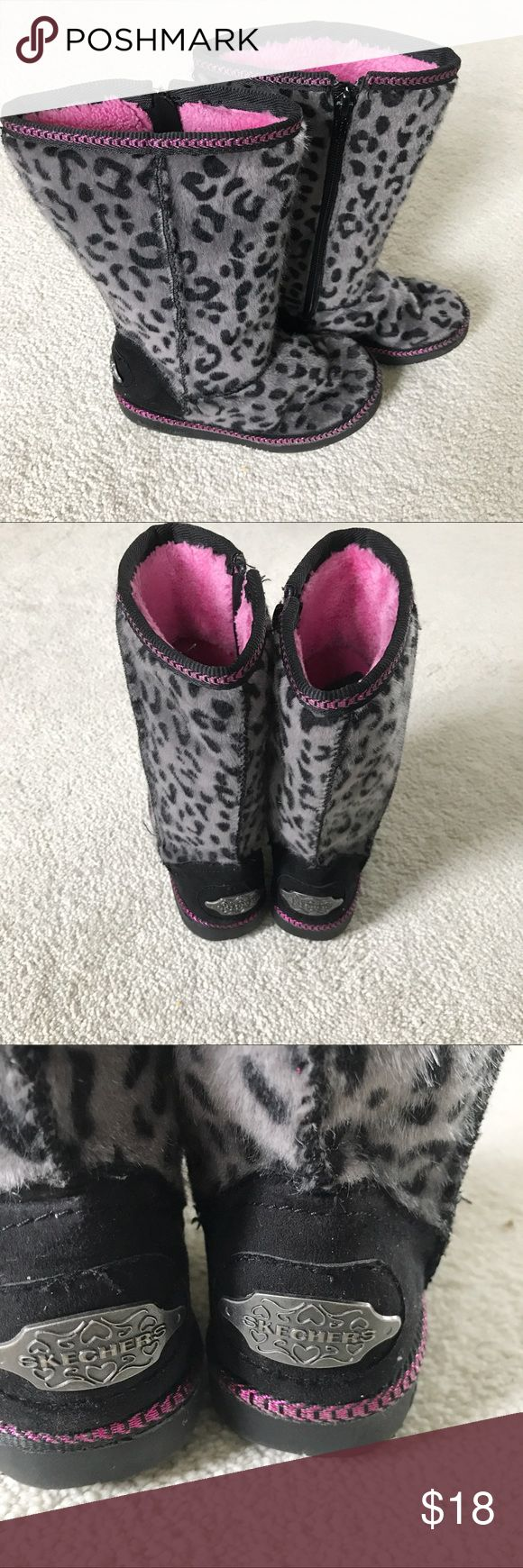 KIDS SKECHERS WINTER BOOTS In great condition.size 11 Skechers Shoes Boots