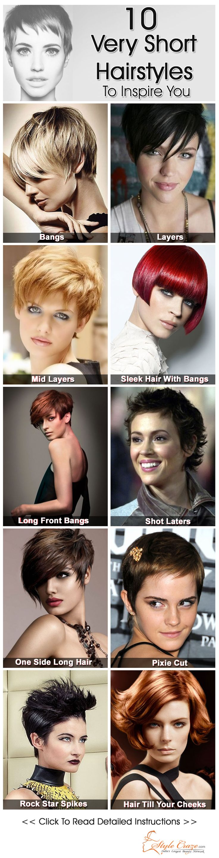Very Short Hairstyles To Inspire You