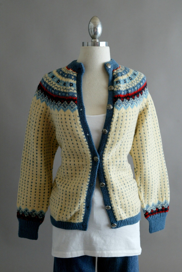 """{E R A} 1960s {L A B E L} """"Norsk Husflid - Hand Knitted in Norway"""""""