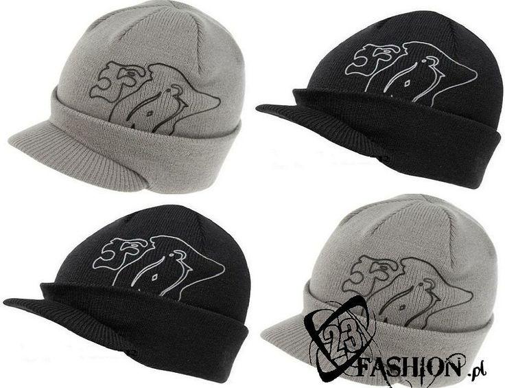 Ciepła czapka LONSDALE z daszkiem wyszywane logo