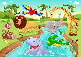 Resultado de imagen para animalitos animados de la selva