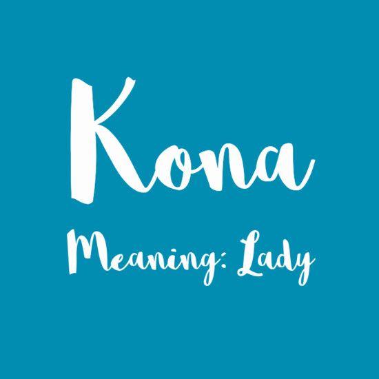 Kona - Simply Adorable Hawaiian Baby Names for Girls - Photos