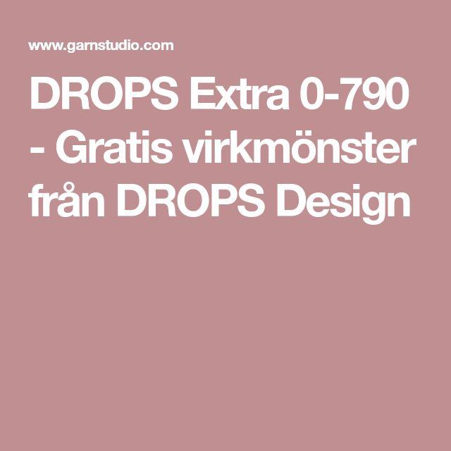 DROPS Extra 0-790 - Gratis virkmönster från DROPS Design