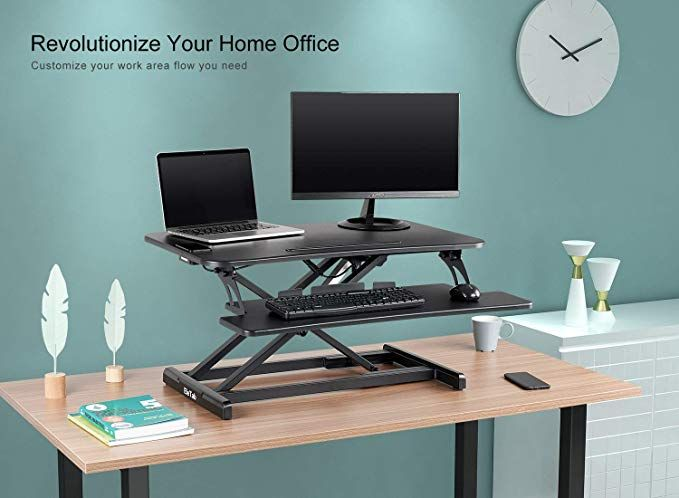 Electric Sit To Stand With A Push Of A Button Your Desk Riser