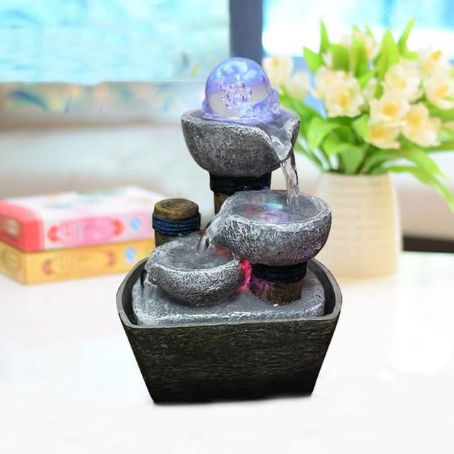 Decorative Indoor Water Fountains Resin Crafts Gifts Feng Shui
