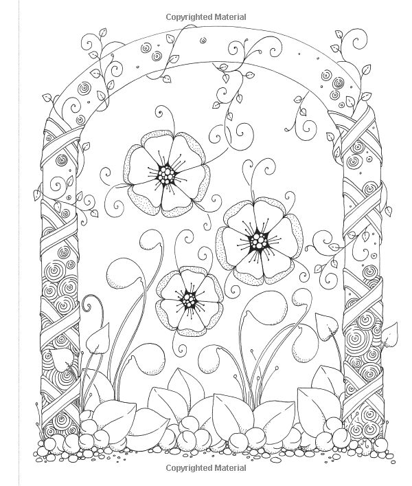 Tangled Gardens Coloring Book 52 Intricate Tangle Drawings To Color With Pens Markers