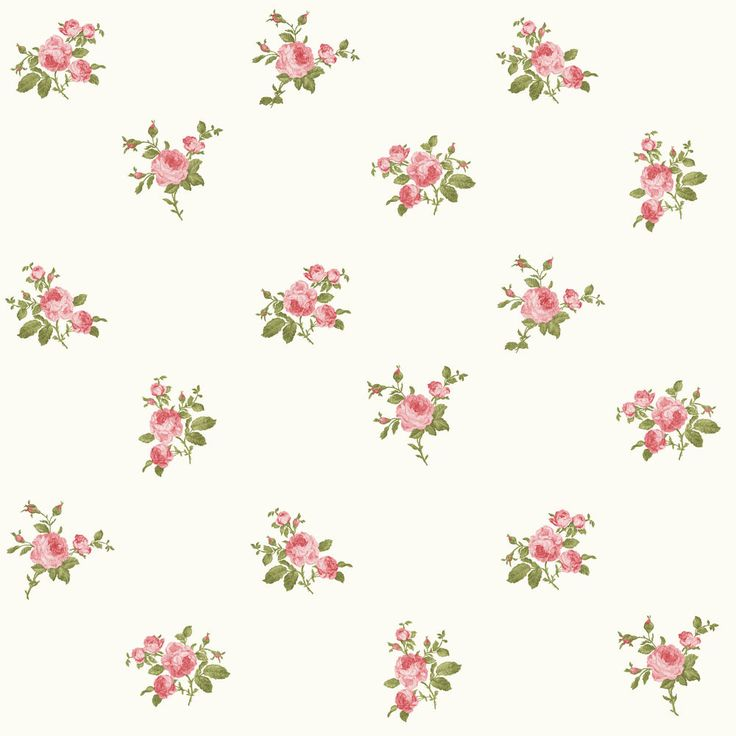 Luxury shabby chic vintage pink floral bouquet roses on for Cream rose wallpaper
