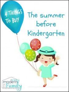 what to buy before kindergarten