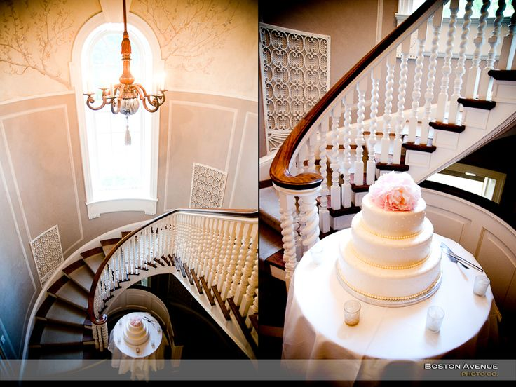 McLean House staircase and wedding cake setup