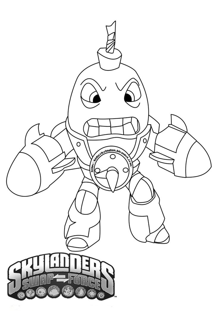 best skylanders coloring pages images on pinterest