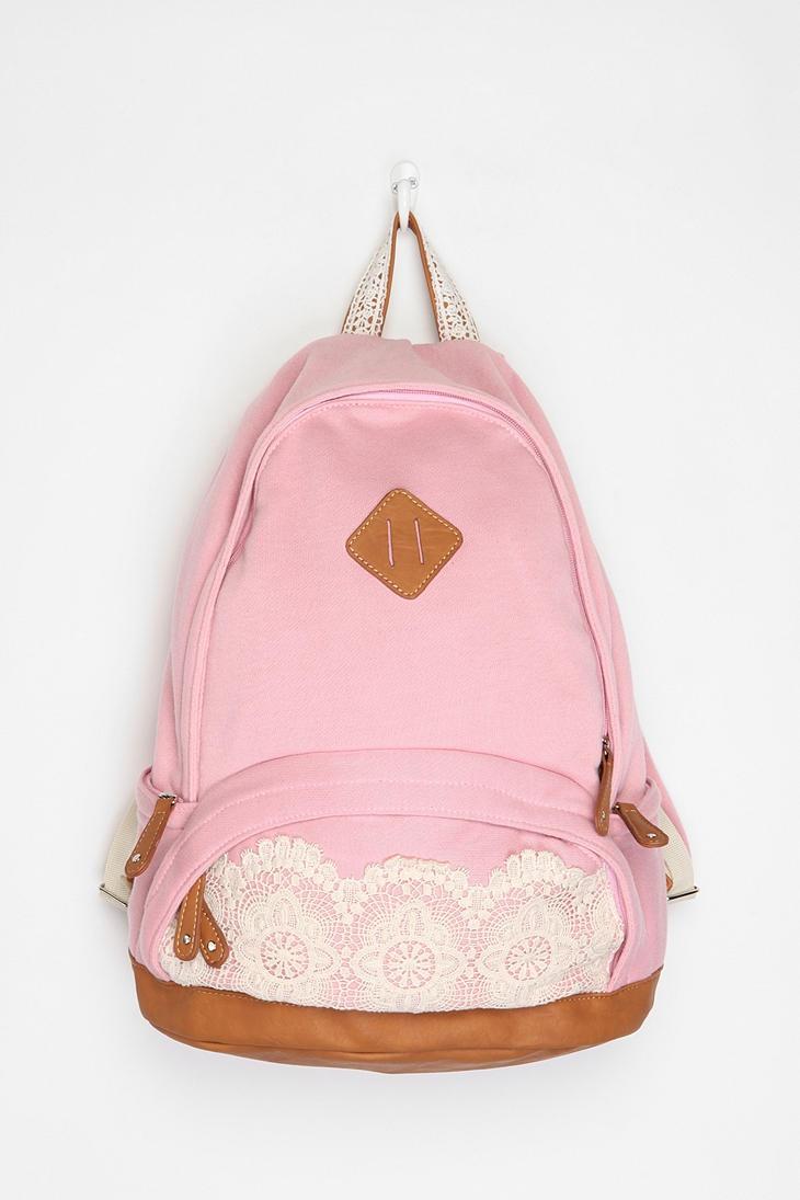 AHHHHH: Lace, Cute Backpacks, Style, School Backpacks, Things, Accessories, College School Bag, Bags
