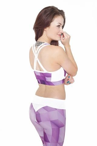 """Jess by HD """"Abstract""""  range black/purple gym (Leggings only)"""