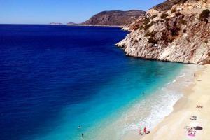 Kaputas Strand zwischen Kas und Kalkan, Lykische Küste, Türkei