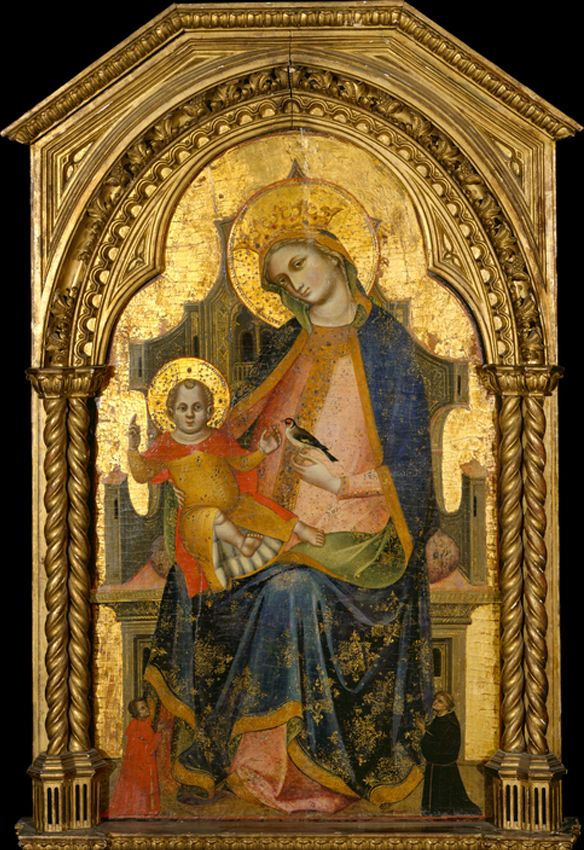 Lorenzo Veneziano - Madonna and Child Enthroned with Two Donors,1370s