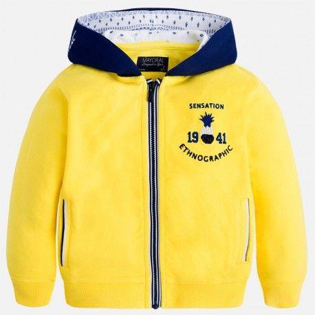 Mayoral sárga kapucnis kardigán.  Mayoral yellow catdigan with hoodie.  www.ckf.hu  #ckf #coolkids #kidsfashion #kidsclothes #gyerekruha #mayoral #yellow #sárga #kardigán #cardigan #kapucni #hoodie