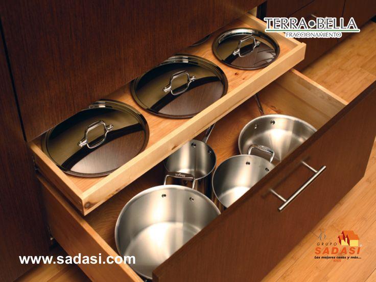 Las 25 mejores ideas sobre almacenamiento de tapas de - Ollas de cocina ...