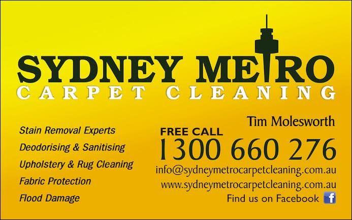 Sydney Metro Carpet Cleaning Free Call 1300 660 276