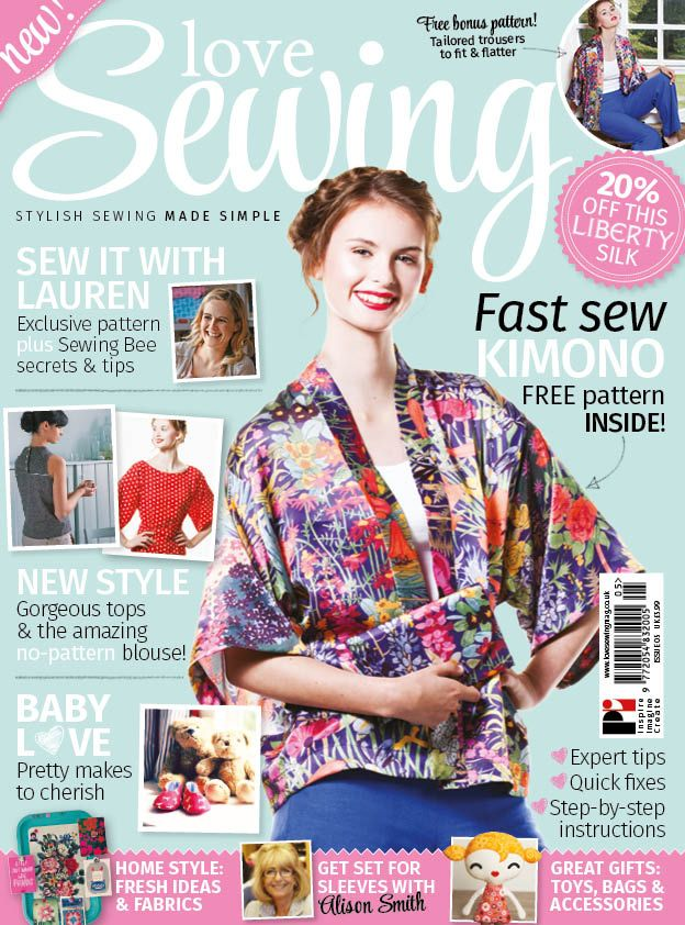 Issue 5 is out on the 11th September! Subscribers should receive their issues from today onwards! Love Sewing Front Cover  - Issue 5