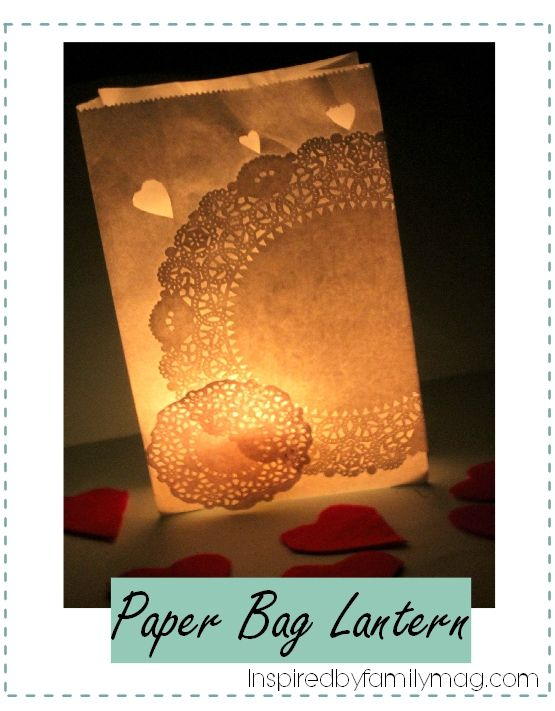 DIY paper bag lantern- Easy craft your kids can make.