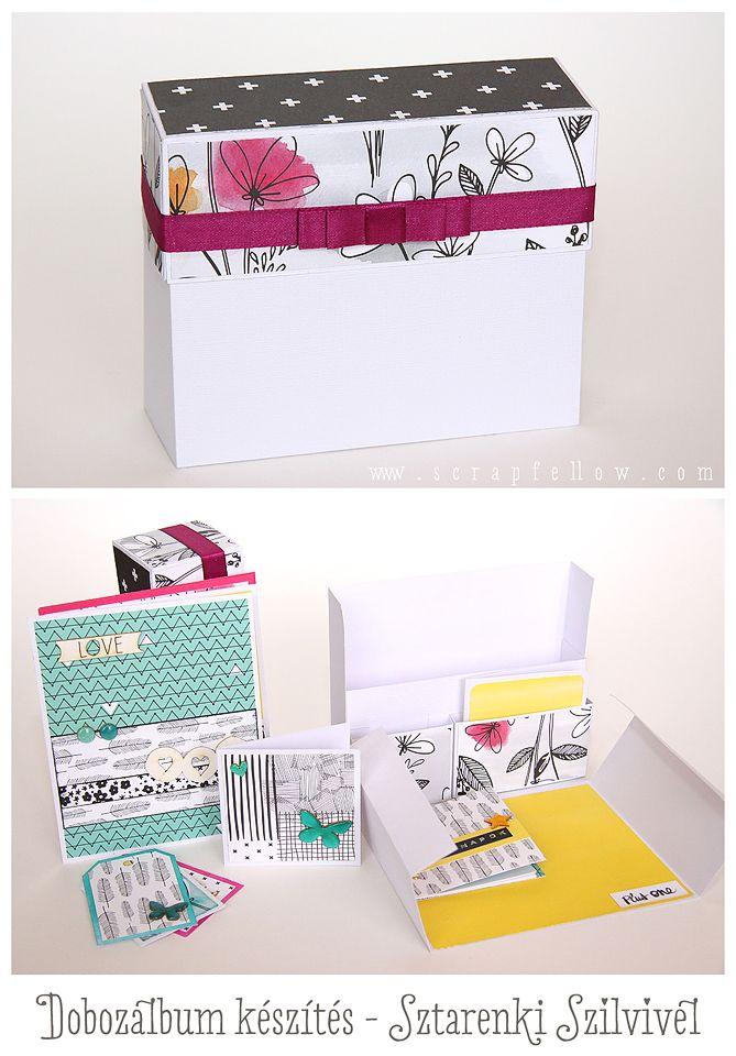 Dobozalbum lépésről lépésre | Scrapfellow #beedee #beedeescrap #DIY #tutorial #scrapfellow #dobozalbum #box #scrapbook #scrapbookalbum #stationarybox