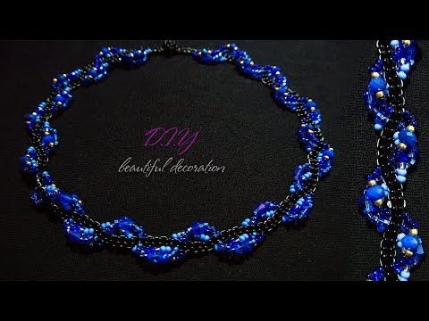 How To Make Designer Necklace At Home | DIY | Unique Necklace | Beaded Necklace - YouTube